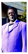 Hollywood Wearing His Dress Suit And Bow Tie Color Photo Usa Beach Towel