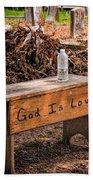 Holt Cemetery - God Is Love Bench Beach Towel