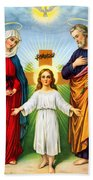 Holy Family With Cross Beach Towel