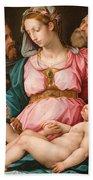 Holy Family With The Infant Saint John The Baptist And Saint Francis Beach Towel by Giorgio Vasari