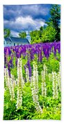 Holy Lupines Beach Towel