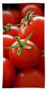Homegrown Tomatoes Beach Towel by Rona Black