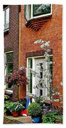 Homes Along The Canal In Enkhuizen-netherlands Beach Towel