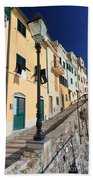 Homes In Bogliasco Beach Towel
