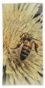 Honey Bee Meets Dandy Lion Beach Towel