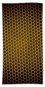 Honeycomb Background Beach Towel