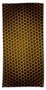 Honeycomb Background Seamless Beach Towel