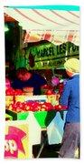 Honeycrisp Apples Fruit Stand Marcel Les Pommes St Joseph Du Lac  Food Art Scenes Carole Spandau Beach Towel
