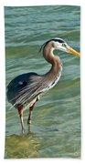 Honeymoon Island Heron Beach Towel