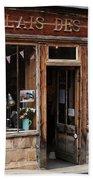 Honfleur Shop Front Beach Towel