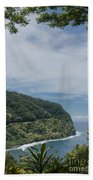 Honomanu Highway To Heaven Road To Hana Maui Hawaii Beach Towel