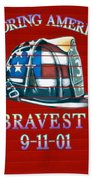 Honoring Americas Bravest From Sept 11 Beach Towel