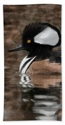 Hooded Merganser 2 Beach Towel