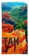 Hoodoos In Bryce Canyon Utah Beach Towel