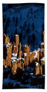 Hoodoos In Shadows Bryce Canyon National Park Utah Beach Towel