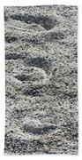 Hoof Prints In Sand Beach Towel