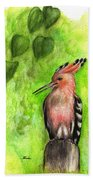Hoopoe Beach Towel