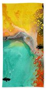 Hope - Colorful Abstract Art By Sharon Cummings Beach Towel