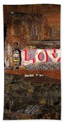 Hope Love Lovelife Beach Towel