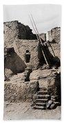 Hopi Hilltop Indian Dwelling 1920 Beach Towel