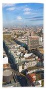 Horizontal Aerial View Of Berlin Beach Towel
