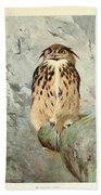 Horned Owl Beach Towel