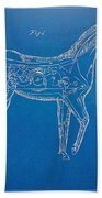 Horse Automatic Toy Patent Artwork 1867 Beach Towel by Nikki Marie Smith