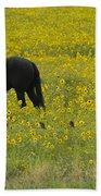 Horse  Birds  And Flowers   #8520 Beach Towel