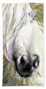 Horse Blowing In The Wind Beach Towel