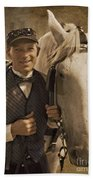 Horse Carriage Driver 1 Beach Towel