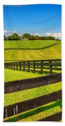 Horse Farm Fences Beach Towel