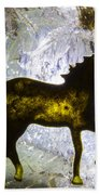 Horse On A Quartz Crystal Beach Towel