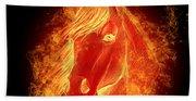 Horse On Fire  Beach Towel