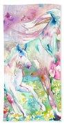 Horse Painting.17 Beach Towel