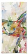 Horse Painting.23 Beach Towel