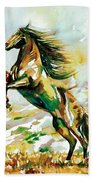 Horse Painting.25 Beach Towel