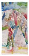 Horse Painting.27 Beach Towel
