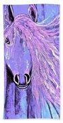 Horse Pale Purple 2 Beach Towel