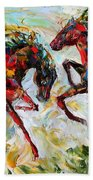 Horse Play Beach Towel