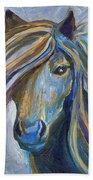 Horse Portrait 102 Beach Towel