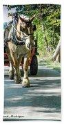 Horse Powered Mackinac Island Beach Towel