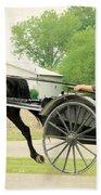 Horse Powered Transportation Beach Towel
