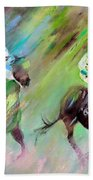 Horse Racing 04 Beach Towel