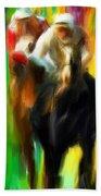 Horse Racing IIi Beach Towel