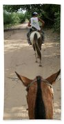 Horse Riding Beach Towel