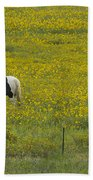 Horses And Wildflowers   #8511 Beach Towel