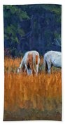 Horses On The March Beach Towel
