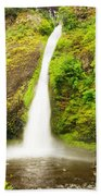 Horsetail Falls In The Spring Beach Towel