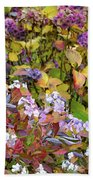 Hortensia Flowers Beach Towel