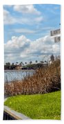 Hot Air Balloon And Old Key West Port Orleans Signage Disney World Beach Towel